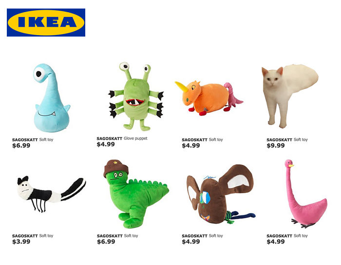 The New Ikea Soft Toys For Spring 2016...