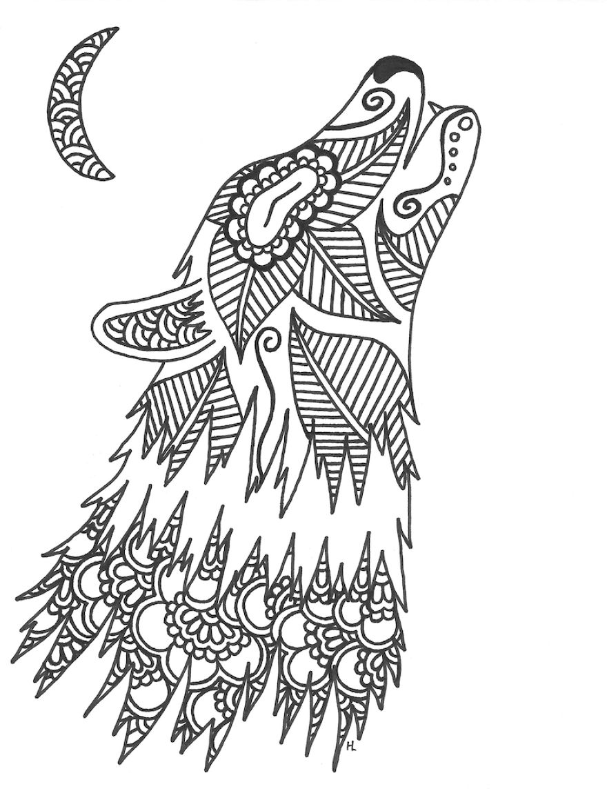 Henna Animals Coloring Pages : Image gallery henna animals