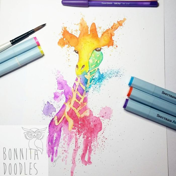 I Draw Stunning Water Colour Paintings Using Pens