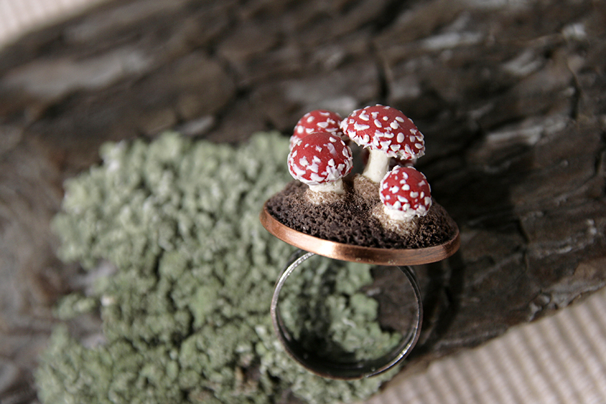 Nature Inspired Jewelry That I Sculpt Out Of Polymer Clay