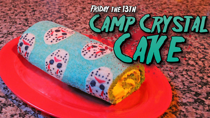 "I Baked A ""Friday The 13th"" Camp Crystal Cake"