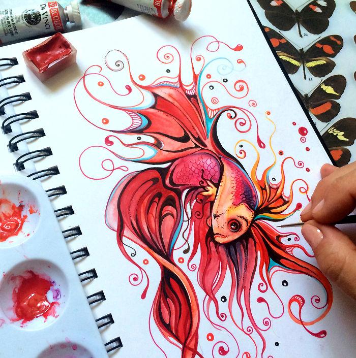 Creatures That Live In My Sketchbook