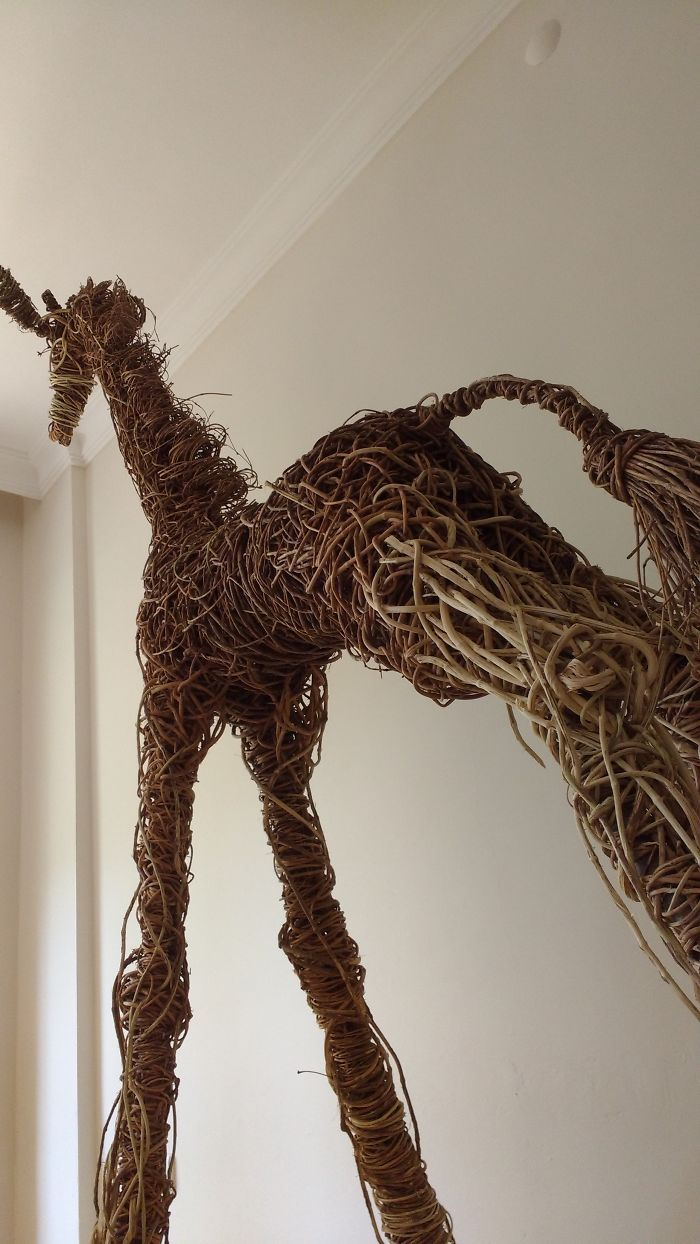 """My Last Project """"İvy Baby Giraffe """" It Took 5 Years To Finish. Sculpture Is 2,5 Metre Long."""