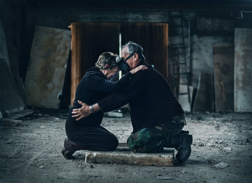 I Used My Grandparents As Models For The Post-Apocalyptic Photoshoot