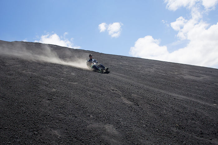 Insane Active Volcano Boarding