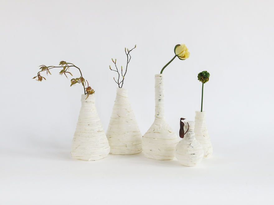 Lamps And Vases Made From Discarded Meat That I Found In