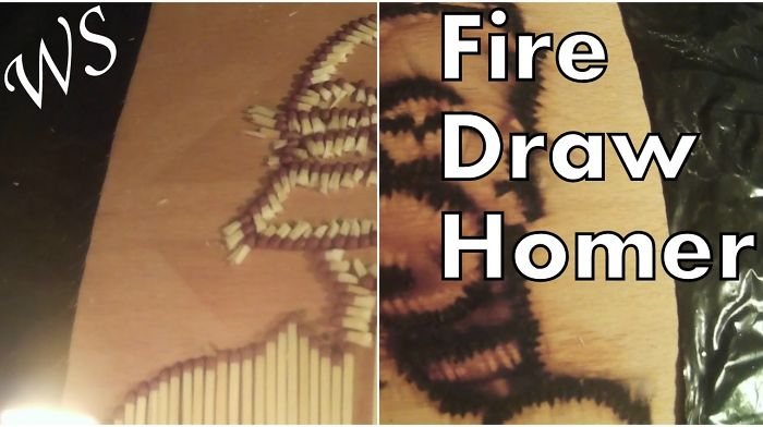 Drawing Homer Simpson With Fire – Amazing!!