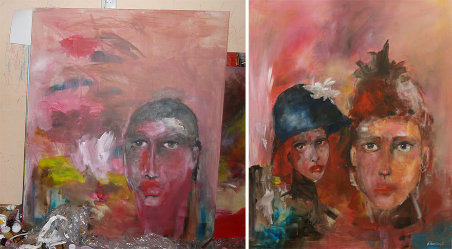 I Finish My Daughters' Paintings