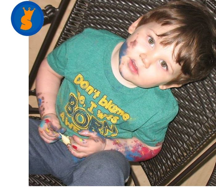 Nonverbal Preschooler Autistic Artist Painting His Expressions Into Masterpieces