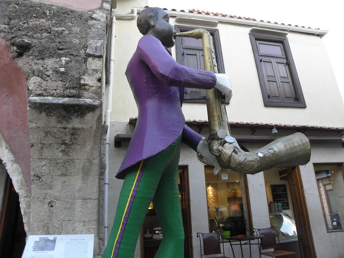 "The ""l"" Sax From Rethymnon In Crete"
