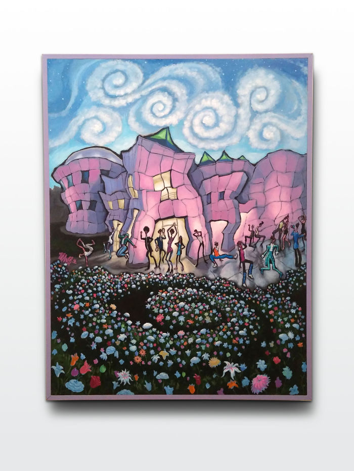 "I Painted This ""paisley Park"" And Am Auctioning It Online For Charity"