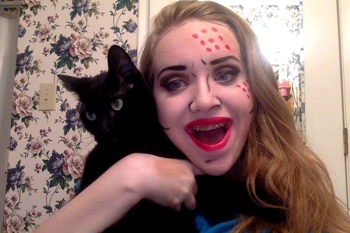 I Was Doing Makeup And Forced Him To Take A Pic With Me
