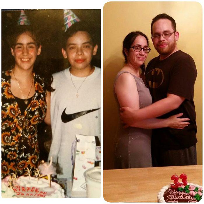 1995 Best Friends, 2015 Best Friends & Married. 20 Birthdays Spent Together