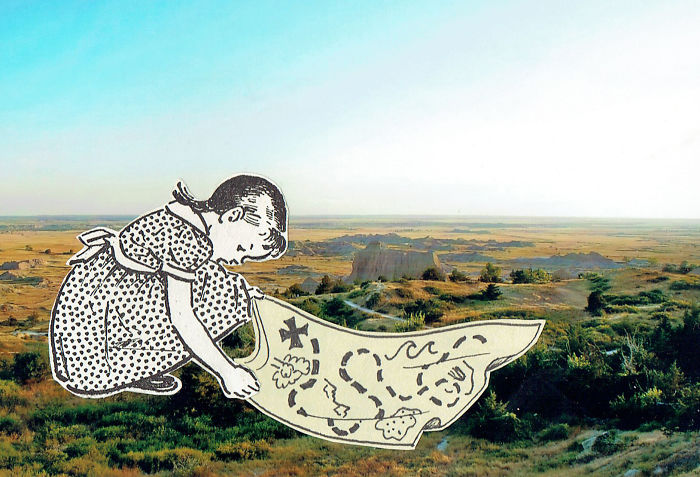 Vintage Childhood Illustrations Come Alive In U.S. Landscapes