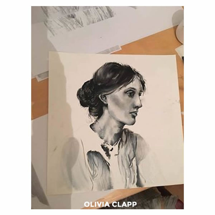 15 Year Old Painted Virginia Woolf  Using Oil Paints In 2 Hours