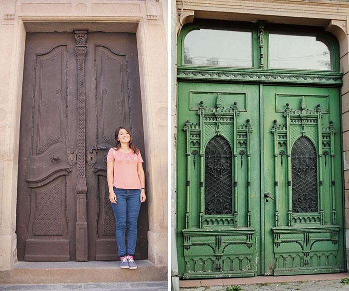 A Moldavian Girl Follows The Doors  Through Romania