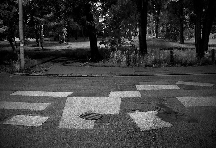 I Photograph Pothole Cover-Ups On Asphalt