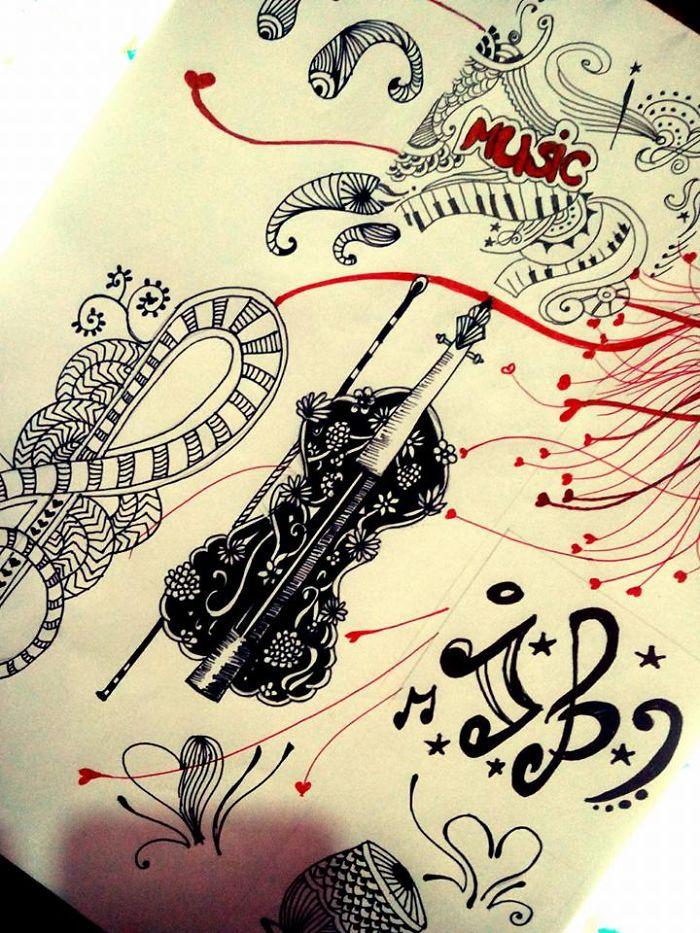 I Drew Music On Paper
