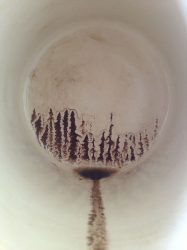 I Accidentally Painted A Silhouette Of A Forest In My Last Sip Of Coffee