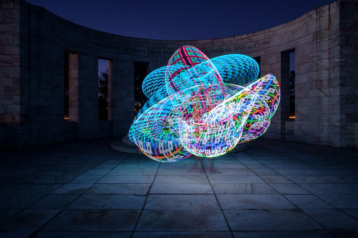 We Used An Electronic Hula Hoop To Bring A New Twist To Painting With Light
