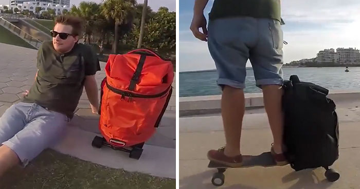 This Backpack Is Also An Electric Skateboard