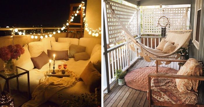 20 cozy balcony decorating ideas bored panda How to decorate small house