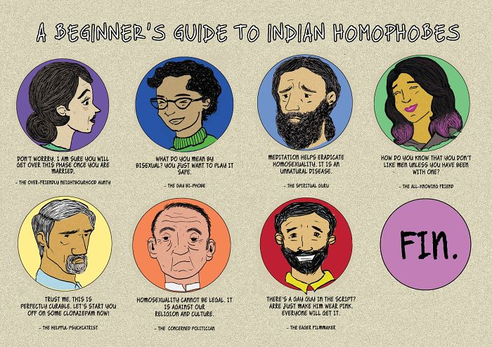 I Illustrated The Beginner's Guide To Indian Homophobes