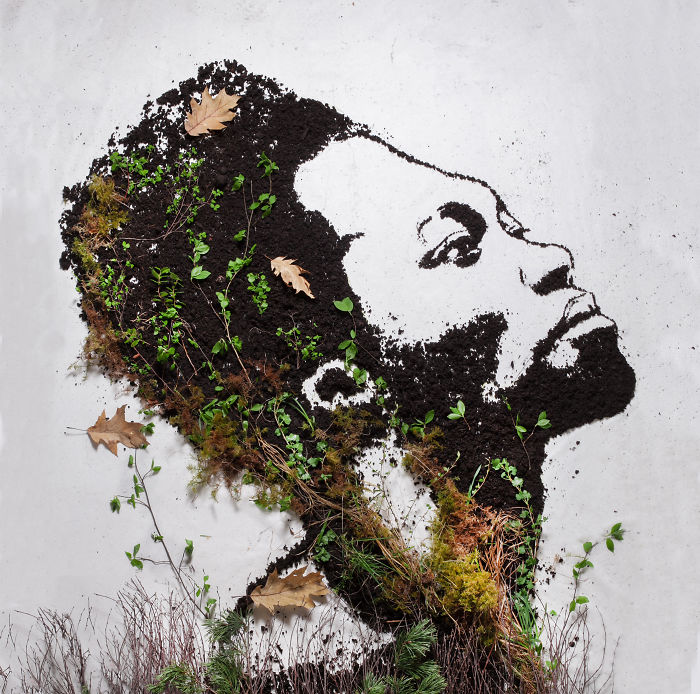 I Made A Benjamin Clementine Portrait From Peat And Moss