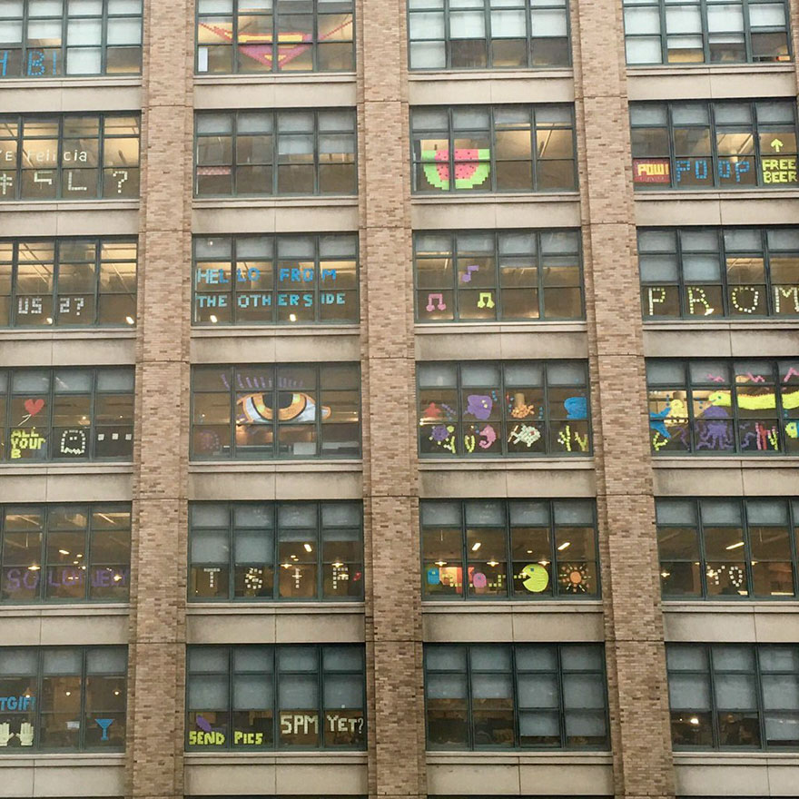 Post It War Between Two Office Buildings Ends With Epic