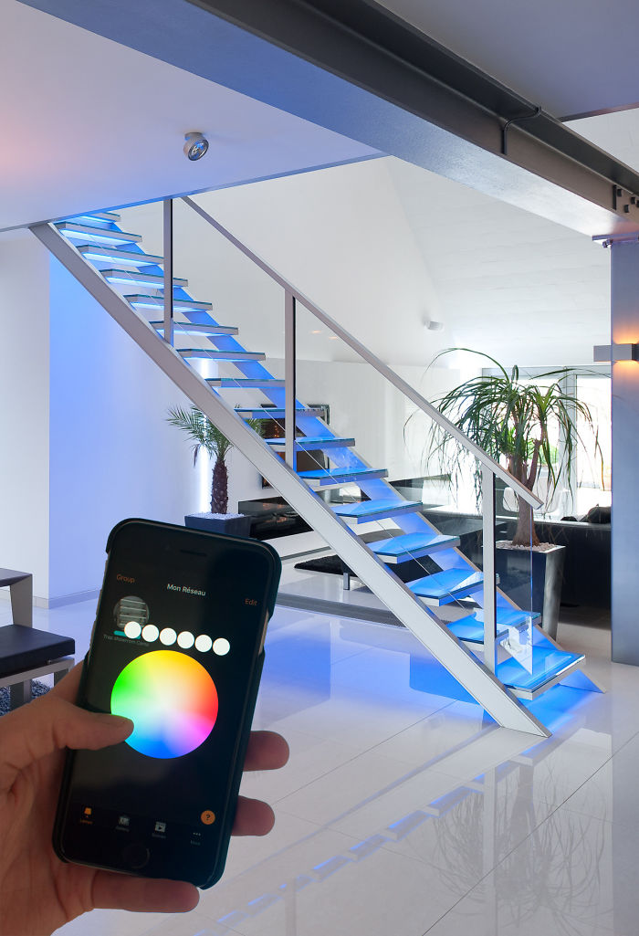 App-controlled Illuminated Staircase