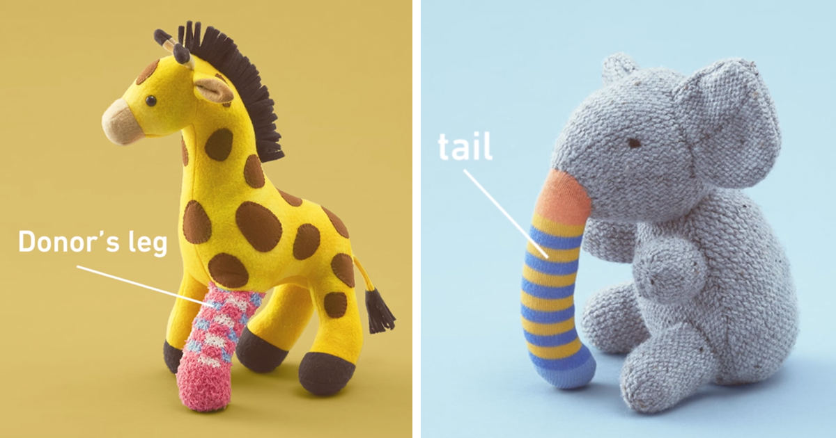 old toys receive donated limbs to educate kids about organ