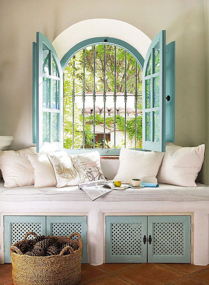 15 reading nooks perfect for when you need to escape this for Spanish style interior shutters