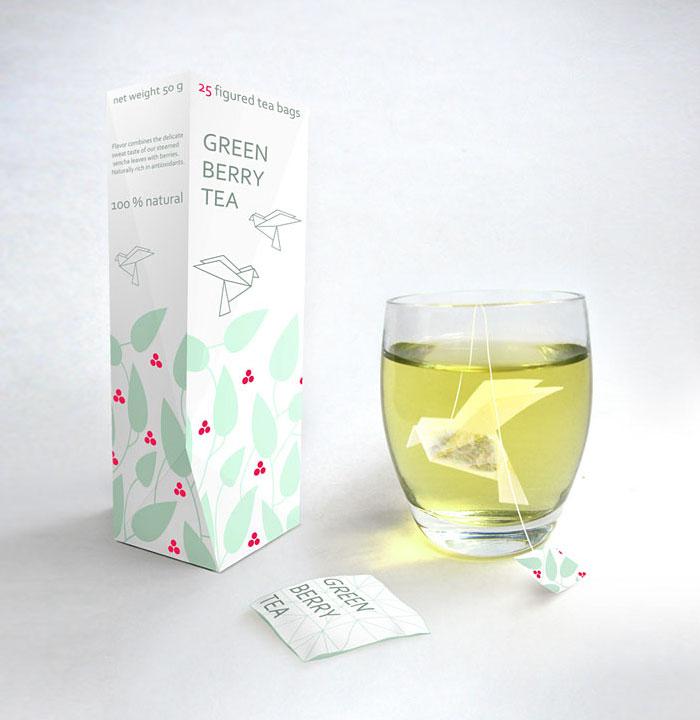 Green Tea Bird Bag