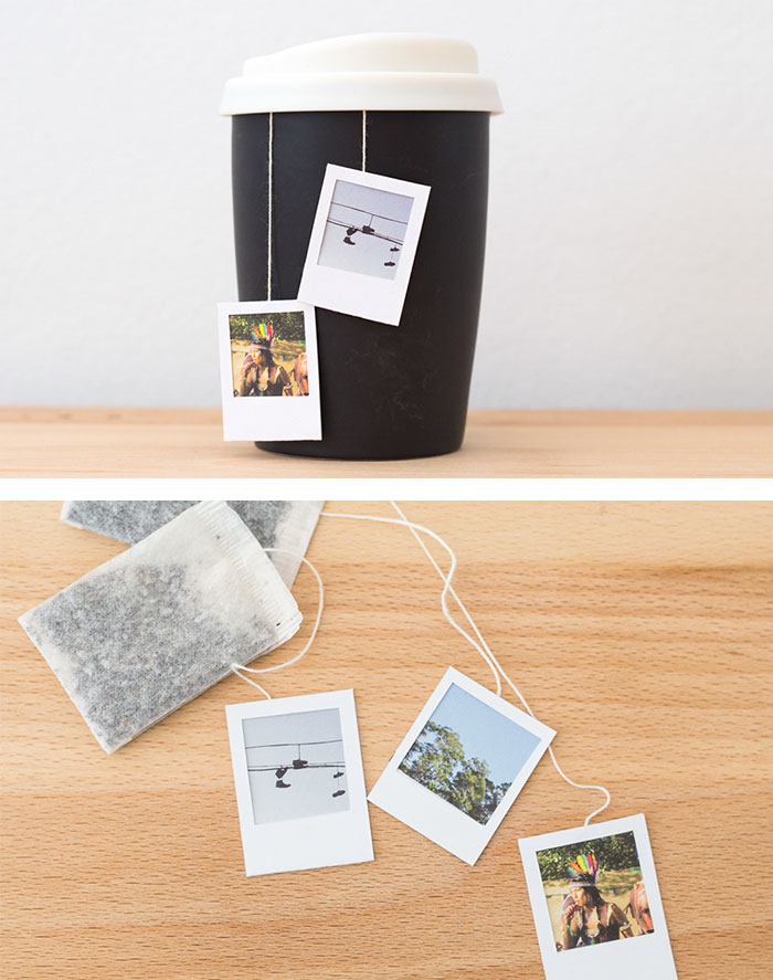 Polaroid Frame Tea Bag Tags