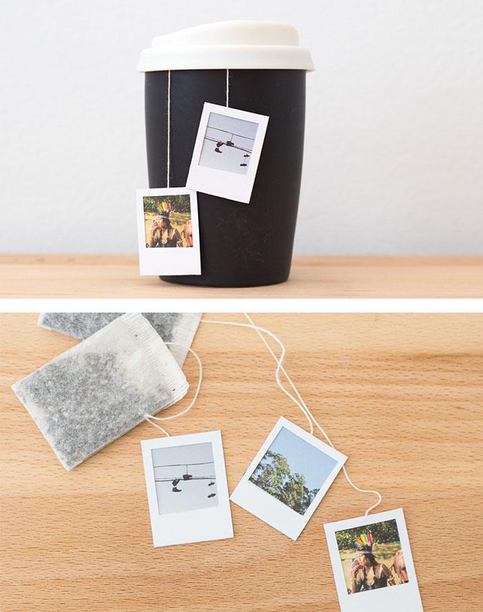 Polaroid Frame Tea Bag Tags