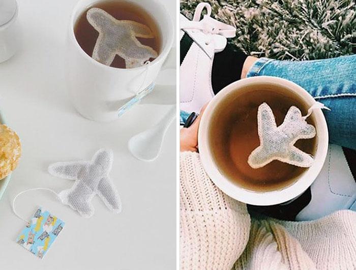 Plane Shaped Tea Bags