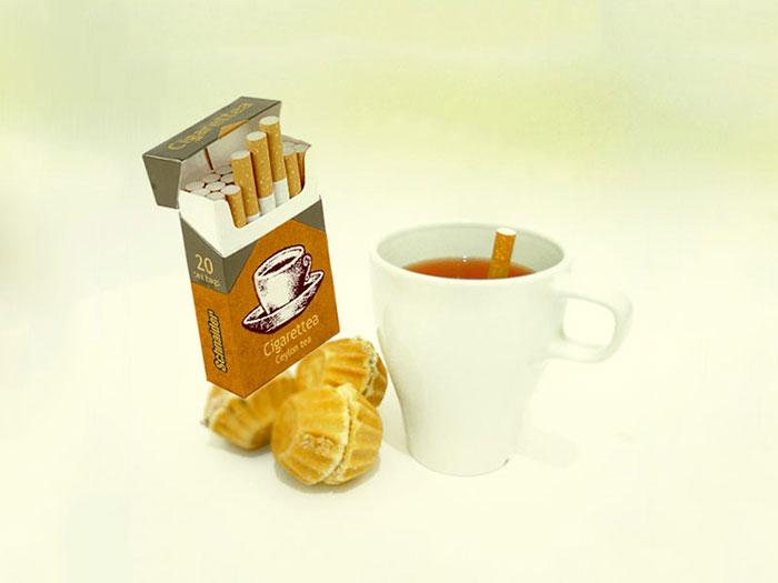 Tea Bags Shaped Look Like Cigarettes