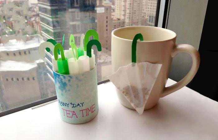 Mini Umbrella Tea Bag