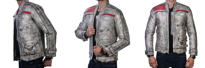 Star Wars The Force Awakens John Boyega Antique Waxed Jacket
