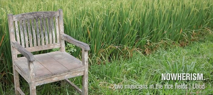 Two Musicians In The Rice Fields Of Ubud