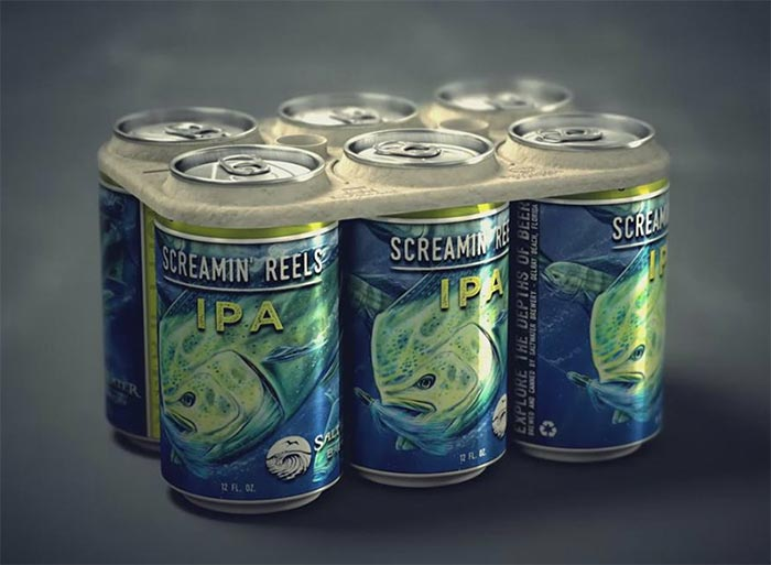 Edible Six-Pack Rings Feed Sea Creatures Instead Of Killing Them