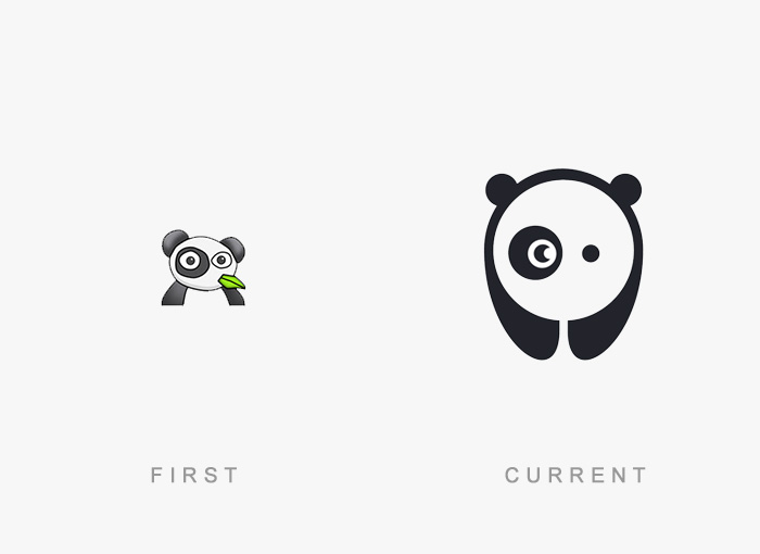 50 Famous Logos Then And Now Bored Panda