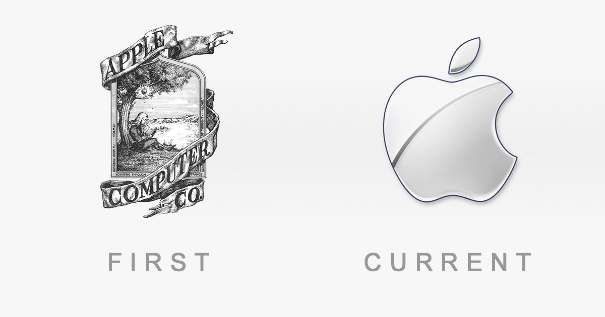 50 Famous Logos Then And Now