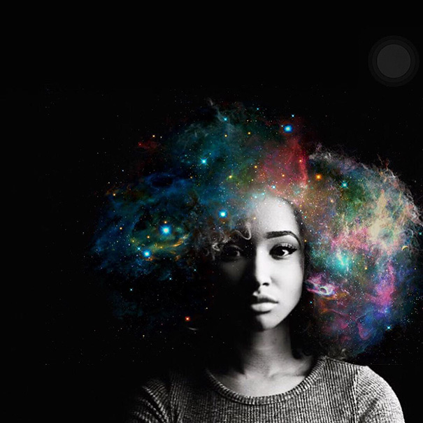 Afros Turned Into Flowery Galaxies Make Black Women