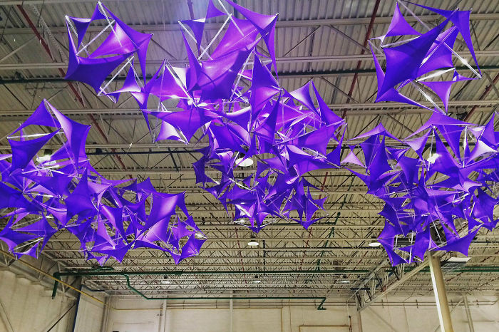 I Designed A Purple Cloud Installation For Echo Art Fair