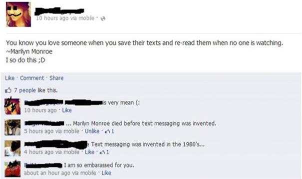 Facebook Never Fails To Amuse Me
