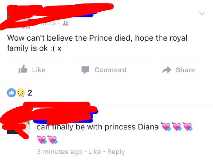 At Least He Is With Princess Diana