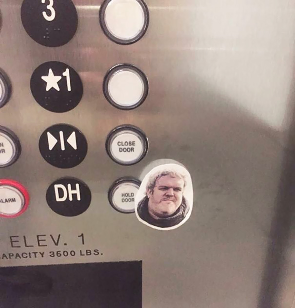Some Slick Bastard Defaced This Elevator