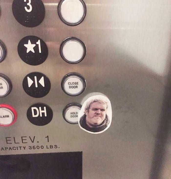 Some Slick Bastard Defaced This Elevator