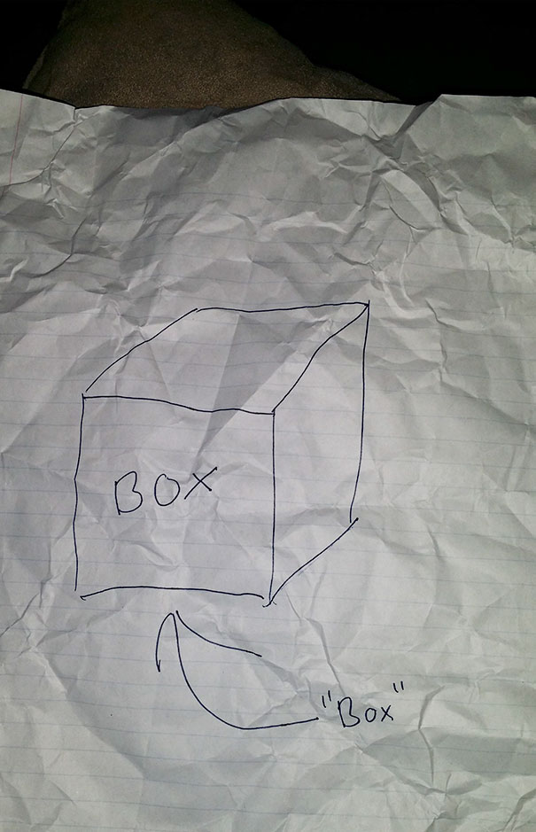 My Husband Decided To Make A Jewelry Box For His Mother For Christmas But Got High Right Before Drawing The Initial Design. I Pulled This Out Of The Recycling The Next Day